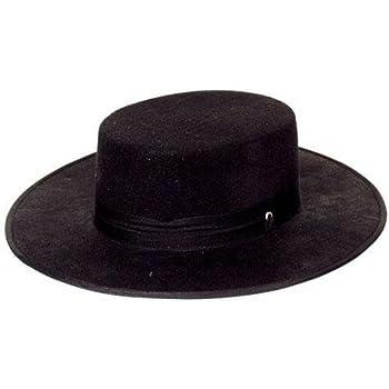 Cappello spagnolo nero im Stile di zorro  Amazon.it  Giochi e giocattoli 1e314f7d6332