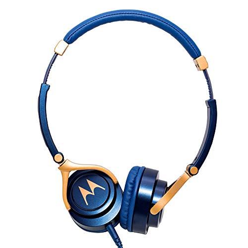 Motorola Pulse 3 Headphones with One Touch Amazon Alexa (Blue)