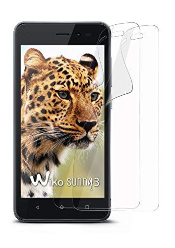moex 2X Wiko Sunny 3 | Schutzfolie Klar Bildschirm Schutz [Crystal-Clear] Screen Protector Display Handy-Folie Dünn Bildschirmschutz-Folie für Wiko Sunny 3 Bildschirmfolie