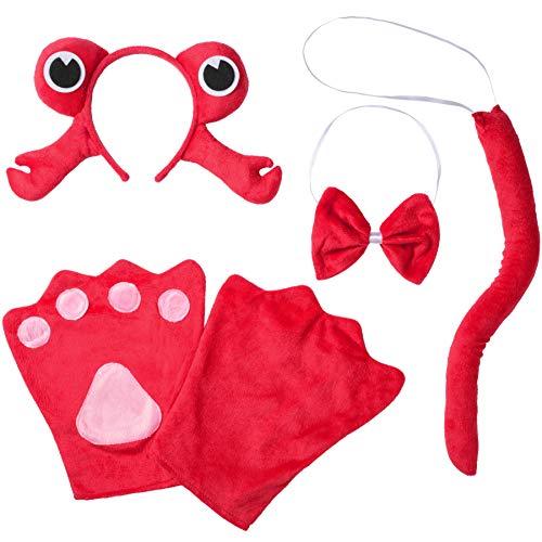 dressforfun 302041 - Kostüm Set Krabbe für Kinder, Haarreif mit Augen und Krabbenscheren, Handschuhe, Fliege und Schwanz