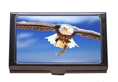 Titolare della carta commerciale, testa bianca eagle animal portrait bald-eagle, titolare della carta in acciaio inossidabile