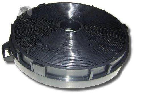 DREHFLEX® - Kohlefilter Aktivkohlefilter 210mm mit Öffnung und Zubehör z.B. passend für Gorenje 663154 oder Bauknecht Whirpool FAC549