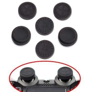 ButterFox Control Stick Aufsätze/ Joystick 6 Pack für PS4 Controllers (PlayStation 4) (Leverage Slip)