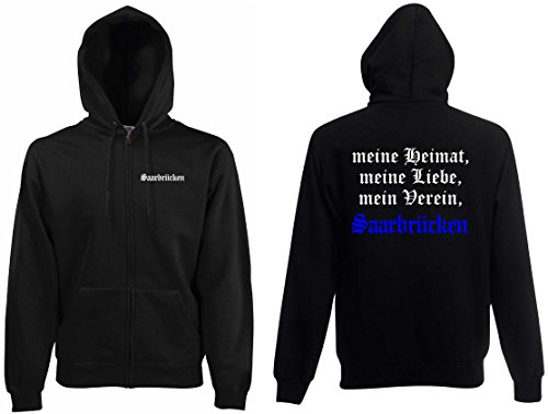 world-of-shirt Herren Kapuzenjacke Saarbrücken Ultras meine Heimat
