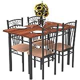 Forzza Hugo Four Seater Dining Table Set (Light Walnut)