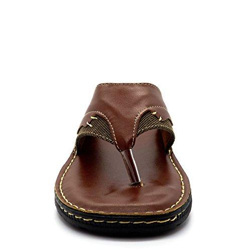 London Footwear ,  Herren hinten offen Braun