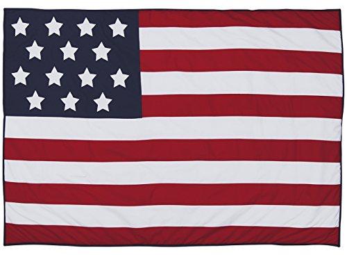 TAFTAN SM-080 Tagesdecke Amerikanische Flagge, mehrfarbig (Kinderbett Baby Bettwäsche American)