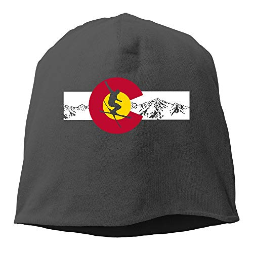 CrownLiny Colorado State - Ski Mountain Flag Beanies Cap