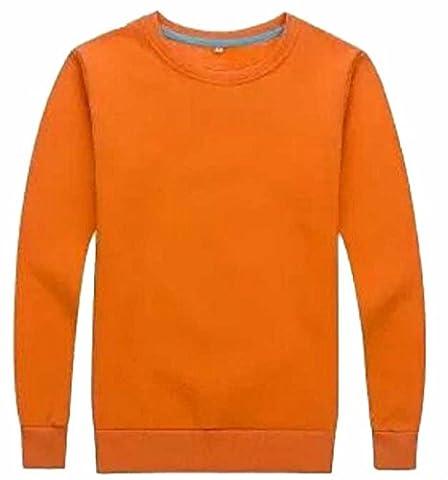Generic Women Regular Scoop Neck Long Sleeve Simple Sweatshirts M 1