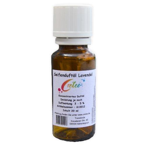 Creleo Seifenduftöl - Seifenduft Lavendel 20 ml zum Seifengiessen hochkonzentriert zum herstellen von Seifen aller Art