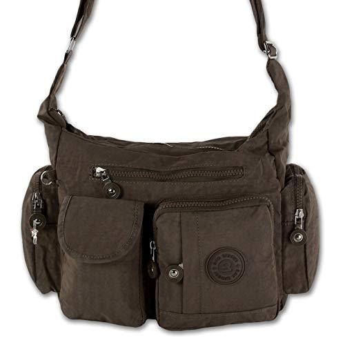 8335b22395b9ce Mujer Bolso Crinkle Nylon bolso de hombro Bolso shopper Bag Marrón marrón
