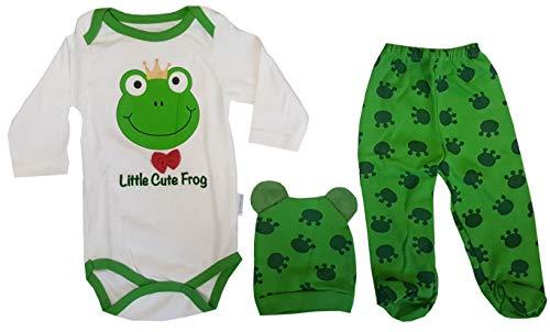 aprom Baby Strampler mit Mütze Frosch Kostüm Neugeborene (3/6 Monate)