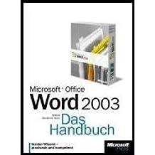 Microsoft Office Word 2003. Das Handbuch.