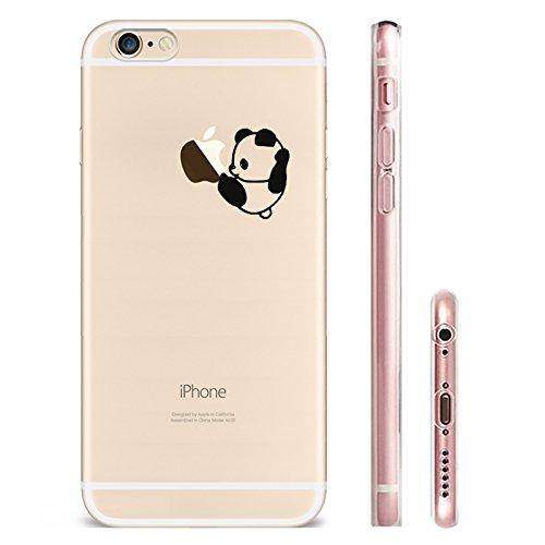 IPHONE 6plus Hülle Flamingos Katze Giraffe Weich Silikon TPU Schutzhülle Ultradünnen Case für iPhone 6 /6S plus Schutz Hülle panda5