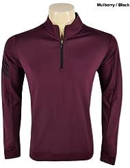 Adidas Mens Climalite Warm 3 Stripe 1/2 Zip Pullover