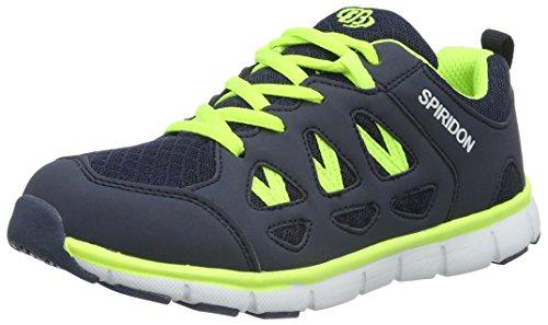 Bruetting Spiridon Fit 591019 Jungen Sneaker Blau (MARINE/LEMON)