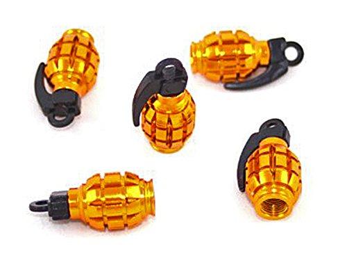 elb Handgranate Granate eloxiert metallic Alu 4 Stück Ventilkappen 4er Set von ETU24 ()