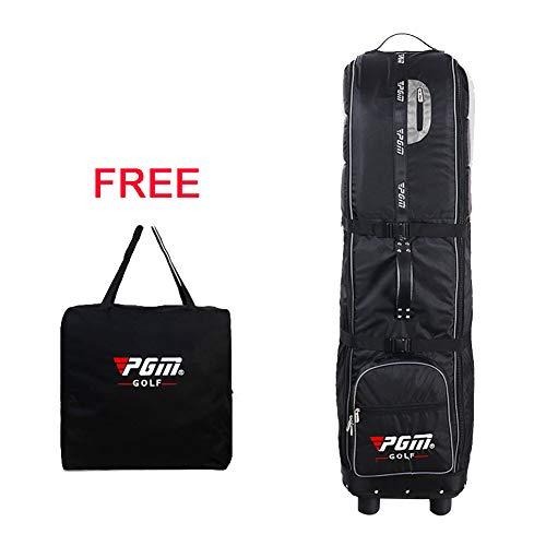 PGM Reisetasche - gepolstert mit Rädern, faltbar, kostenlose Aufbewahrungstasche, #HKB009, schwarz / silber -