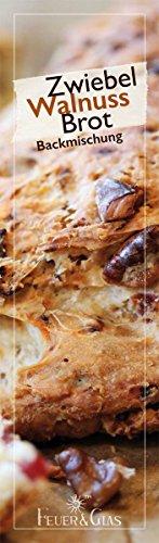 Backmischung im Weckglas Zwiebel-Walnuss-Brot- Raffinierte Geschenkidee für Backfreunde- Backzutaten für die einfache Zubereitung von Zwiebel-Walnuss-Brot- Gourmetbackmischung