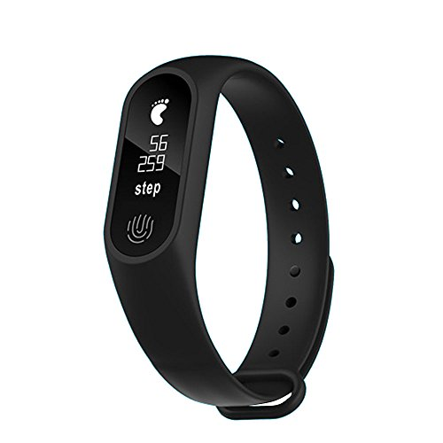 Fenghong Fitness Tracker, Activity Tracker Uhr mit Pulsmesser Bluetooth Armband Smart Armband Smart Armband 2017 Portable Wasserdicht M2 Plus Anruf Erinnerung Sport Monitor