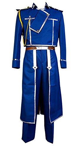 Kostüm Alchemist Fullmetal Cosplay - FullMetal Alchemist Cosplay Roy Mustang Uniform Cosplay Kostüm Herren M