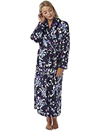 c93bec2b15 Ladies Supersoft Fleece Floral Gown By Indigo Sky Blue Size 10-12