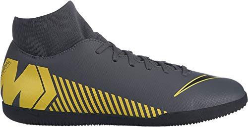 Nike Herren SuperflyX 6 Club IC Fußballschuhe, Grau (Dark Grey/Black-Opti Yellow 070), 42.5 EU