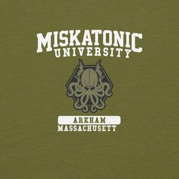 Planet Nerd Miskatonic University - Herren T-Shirt Oliv