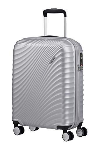 American Tourister Jetglam - Spinner S Bagaglio a Mano, 55 cm, 35.5 litri, Argento (Metallic Silver)