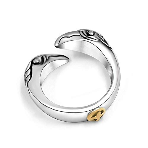 Männer Ring Titanstahl Double Eagle Ring 6 mm Breite Männer Ring Hip Hop -