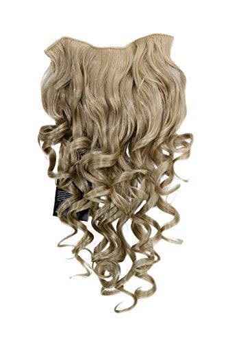 Extension à clipper composée de7 crochets, Perruque ¾, frisée, blond clair/blond cendré 50 cm H9503-24