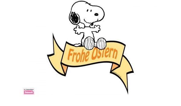 Wandtattoo Snoopy Wunscht Frohe Ostern 47 X 35cm Amazon De Kuche Haushalt