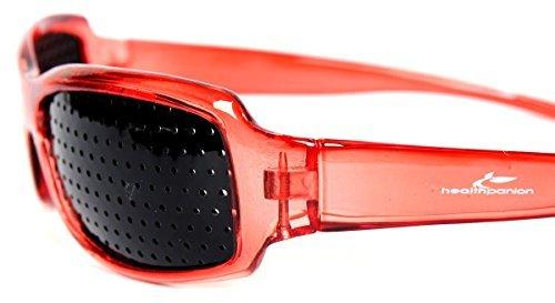 HealthPanion 1 Set Di Miglioramento Vista Esercizio Occhiali A Foro Stenopeico - Rosso