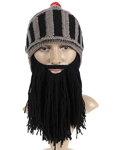 CoolChange Römischer Zenturio Helm Strikmütze / Sturmmaske mit Bart zum Anköpfen