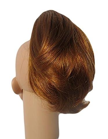 SHORT PONY RABBITS TAIL 'TUFT' CLIP IN HAIR EXTENSION (11 Ginger Honey)