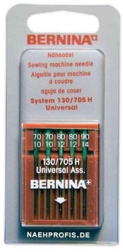 BERNINA Nadeln für Webware, Stärken 70/10 bis 90/14 Nähmaschinennadeln