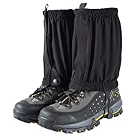 VORCOOL 1 par de Calentadores de piernas elásticos Deportes al Aire Libre Senderismo Ciclismo Escalada Legging Calzas para la Nieve Mangas para Las piernas Zapatos Protector de Cubierta