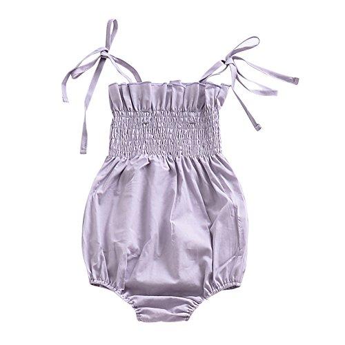 Brightup Baby Mädchen Rüschen Strampler Kleider Sommer Kleidung Infant Overall Outfits One-Pieces Body für 0-24 Monate (Piece Kleid Mädchen One)