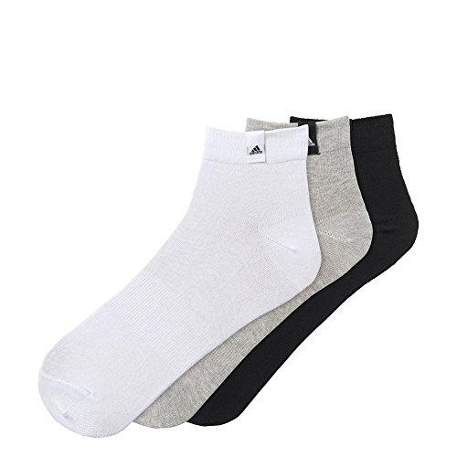 adidas Herren Socken Performance 3 Paar, weiß/grau/schwarz, 39-42, AA2485 (Drei Herren-socken)