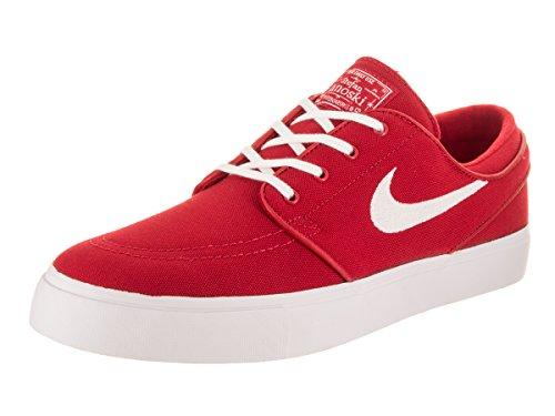 NIKE Men's Zoom Stefan Janoski Cvns University Red/White Skate Shoe 12 Men - Rot Skate-schuhe Nike