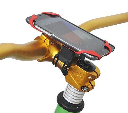 upanbike Bike Motorrad hnadlebar Vorbau Halterung Bike Mount Double Seil Strap Lock kompatibel mit Universal Telefon und GPS, - Gps-lock