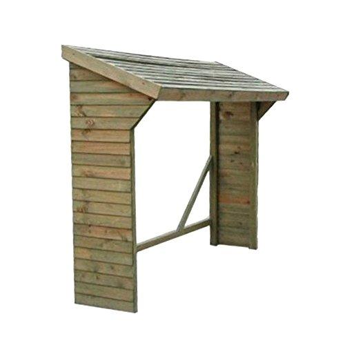 Evergreen Legnaia tetto spiovente deposito porta legna giardino esterno EG51258