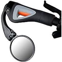 KOONARD Rennrad, MTB Fahrrad Rückspiegel Fahrradspiegel, klar, rund, für die Rückseite, Silberfarben, Schwarz
