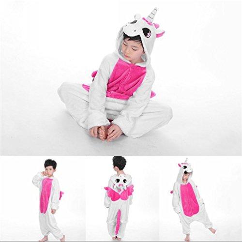 Kinder Cute Animal Footed Pyjama Einteilige Sleeper Full Sleeve Pyjama (Farbe: pink) (Größe: 140)