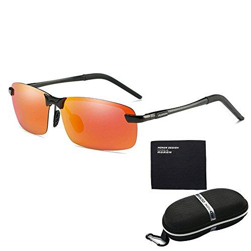 Zihuist Erwachsene Sport Sonnenbrille Antireflexion Sorgen für Schutz vor UV-Strahlen Airsoft Goggles Verspiegelte Fahrradbrille Sportsonnenbrille Polarisierte