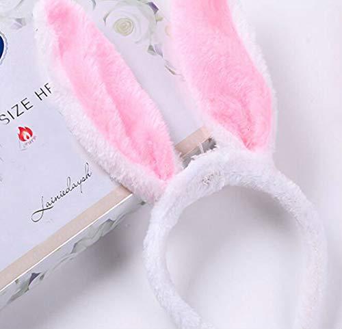 Hase Ohren Hase Stirnband mit LED Halloween Bunny Kostüm Party Dekoration 17 cm rose