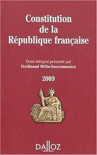 Constitution de la République francaise par Ferdinand Mélin-Soucramanien
