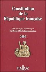 Constitution de la République francaise : Texte intégral de la Constitution de la Ve République