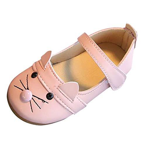 Kleinkind Kätzchen Kostüm Süße - SOMESUN Baby Mädchen Modisch Schnürhalbschuhe Kind Süß Karikatur Kätzchen Weich Freizeit Prinzessin Tanzschuhe Lederschuhe Kleinkind Bequem Einfarbig Schuhe