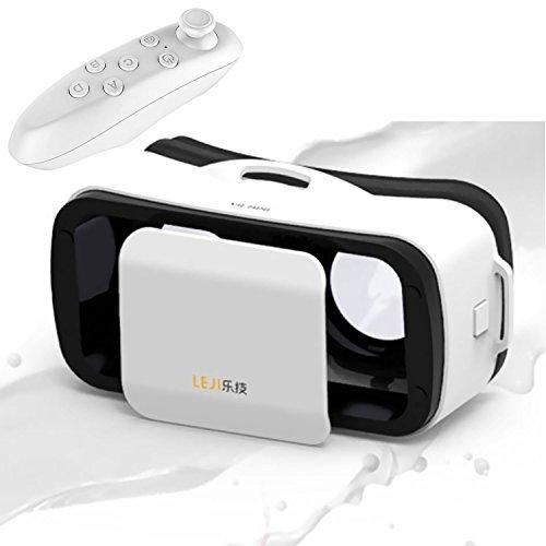 BeVifi Mini-3D-VR-Brille, Virtual-Reality-Headset, mit Fernbedienung für iOS, iPhone 7/6/6S Plus, Android Samsung Galaxy S7Edge S7/6/J7/A5/A3(2016)und weitere 11,4 – 14cm (4,5 - 5,5 Zoll) Handys